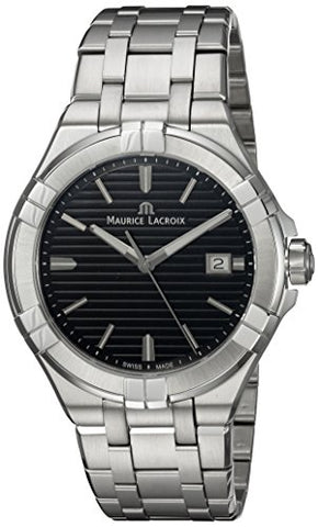 Maurice Lacroix Men's 'Aikon' Quartz Stainless Steel Casual Watch, Color:Silver-Toned (Model: AI1008-SS002-331-1