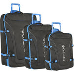 Columbia 3 Piece Expandable Spinner Luggage Set, Stormy Blue Black