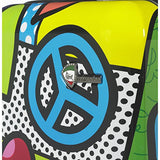 Mia Toro Italy-Peace and Love Hardside Spinner Luggage 3 Piece Set, Multicolored