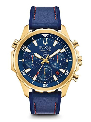 Bulova Mens Chronograph Quartz Watch with Silicone Strap 97B168