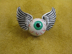 Unkl Ian's Flying Eyeball pin #2