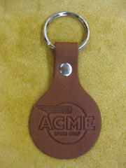 ACME Logo-Leather Embossed Key Chain