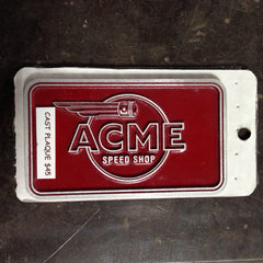 Cast Aluminum Plaque-Red