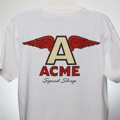 "ACME - Flying ""A"" Logo (Mens)-White T"