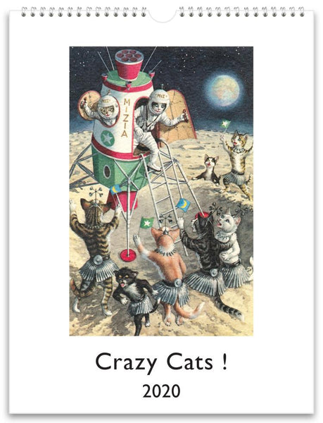 Crazy Cats ! 2020 Wall Calendar