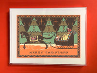 Merry Christmas Sleigh - Boxed Note Cards