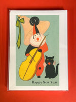 Happy New Year Harlequin - Boxed Note Cards