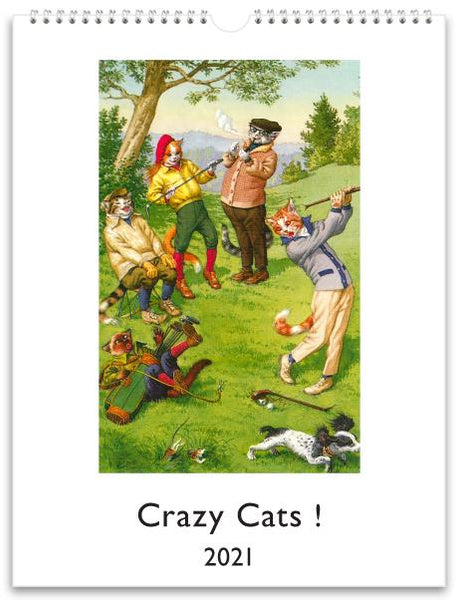 Crazy Cats ! 2021 Wall Calendar