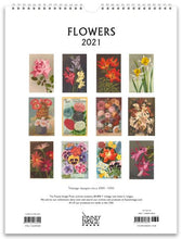 Load image into Gallery viewer, Flowers 2021 Wall Calendar