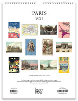 Paris 2021 Wall Calendar