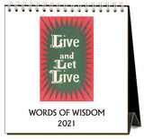 Words of Wisdom 2021 Calendar