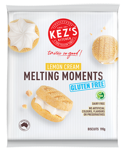 Kez's Kitchen Gluten Free Lemon Cream Melting Moments (190g)