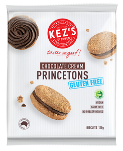 Kez's Kitchen Gluten Free Chocolate Cream Princetons (6 x 21g Biscuits)