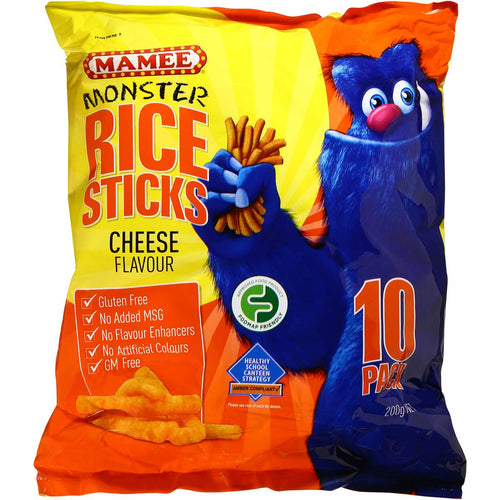 Mamee Rice Sticks Cheese Flavour 10 pk (200g)