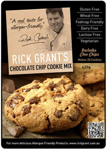 Rick Grant's Choc Chip Cookie Mix - Includes Choc Chips (420g)