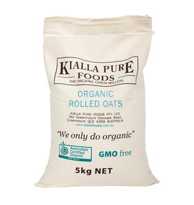 Kialla Pure Foods Organic Rolled Oats (5kg)