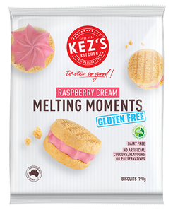 Kez's Kitchen Gluten Free Raspberry Cream Melting Moments (190g)