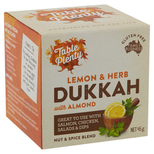 Table of Plenty Lemon & Herb Dukkah (45g)