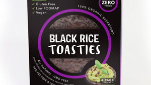 Zero Food Black Rice Toasties 6 Pack (384g) - REFRIGERATED PRODUCT