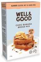 Well & Good Choc Banana Bread Mix (375g)