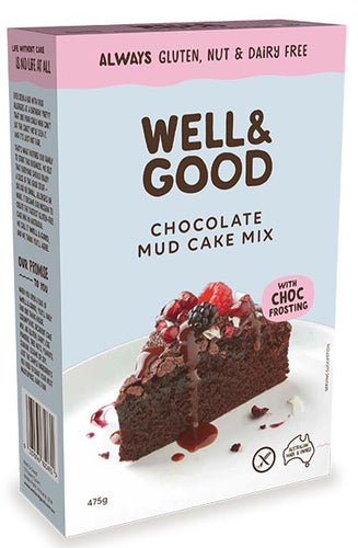 Well & Good Choc Mud Cake Mix + Choc Frosting (475g)