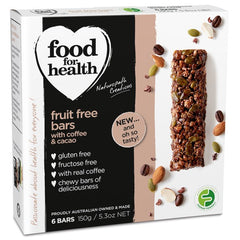 Food for Health Coffee & Cacao Fruit Free Bars (6 Bars, 150g)
