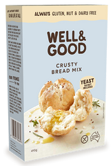 Well & Good Crusty Bread Mix + Yeast (410g)