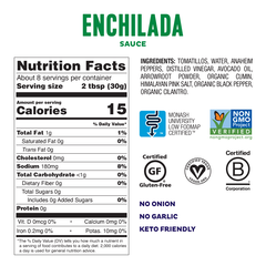 Fody Foods Low FODMAP Green Enchilada Sauce (240g)