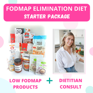 FodShop's Low FODMAP Elimination Diet Starter Kit - INCLUDES x1 INITIAL DIETITIAN CONSULTATION (QLD)