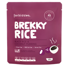 Forbidden Foods Brekky Rice - Black Rice & Coconut Organic Instant Rice Pudding (125g)