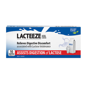 Lacteeze Chewable (Mild Mint Flavour) 10 Tablets