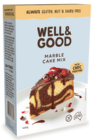 Well & Good Marble Cake Mix + Choc Frosting (460g)