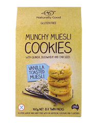 Naturally Good Products Munchy Muesli Cookies Vanilla Toasted Muesli (160g)
