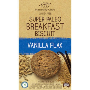 Naturally Good  Naturally Good Super Paleo Breakfast Biscuit Vanilla Flax (150g)