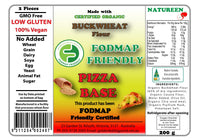 Natureen FODMAP Friendly Buckwheat Flour Pizza Bases (200g)