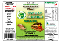 Natureen FODMAP Friendly Buckwheat Wraps (200g)