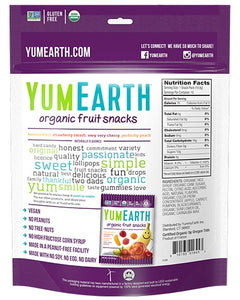 Yum Earth Organic Fruit Snacks (5 x 20g)