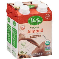 Pacific Foods Organic Almond-Chocolate Drink (4 x 240ml)