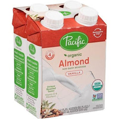 Pacific Foods Organic Almond-Vanilla Drink (4 x 240ml)