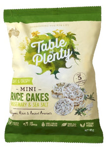 Table of Plenty Savoury Mini Rice Cakes Rosemary & Sea Salt (60g)