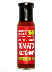 Slightly Different Foods Spicy Red Pepper Tomato Ketchup (250g)