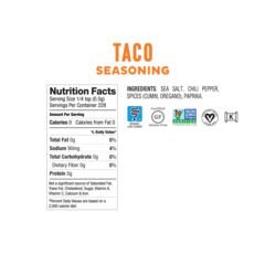 Fody Foods Low FODMAP Taco Seasoning (115g)