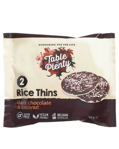 Table of Plenty Rice Thins Dark Chocolate & Coconut (30g)