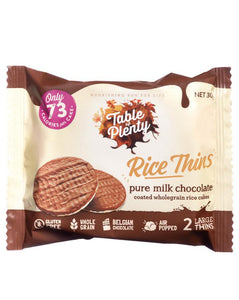 Table of Plenty Rice Thins Milk Chocolate (30g)