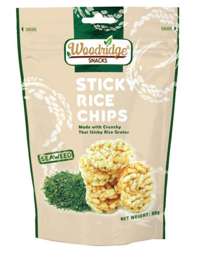 Woodridge Snacks Sticky Rice Chips Seaweed (80g)