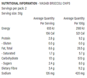 X50 Broccoli Chips Wasabi (60g)