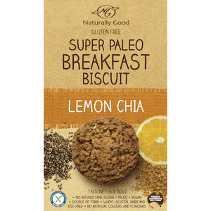 Naturally Good Super Paleo Breakfast Biscuit Lemon Chia (150g)