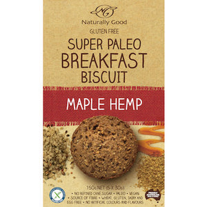 Naturally Good Super Paleo Breakfast Biscuit Maple Hemp (150g)