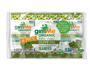 Gimme Roasted Seaweed Snacks Olive Oil - 6 Pack (6x5g)