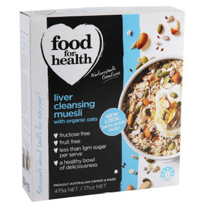 Food for Health Liver Cleansing Muesli with Psyllium & Linseeds (475g)